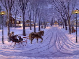 beautiful winter ride