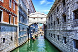 The Bridge of Sighs Over Canal Venice Italy