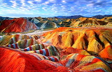 Colored hills of Danxia, China