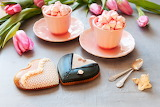 Coffee, cookies, hearts, tulips, marshmallows, wedding, bride, g