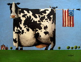 ^ Cow with flag ~ Tim Campbell