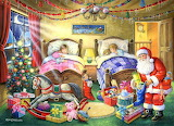 Colours-colorful-bedroom-children-sleep-christmas-tree-santa-toy