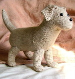 Knitted lab puppy