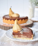 Chocolate pear cheesecake