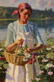 Wildflowers On The River's Edge - Gregory Frank Harris