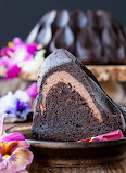 Chocolate cheesecake-stuffed bundt cake