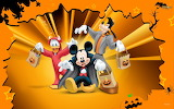 A Mickey,Goofy, Donald Duck Halloween