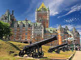 Quebec Canada Frontenac and canons
