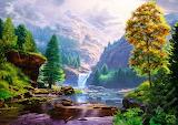 Nature's waterfall