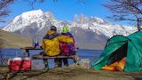 Laguna Azul, Torres Del Pine, Chile, Patagonia