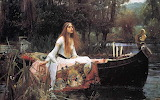 Lady of Shallot 1888 by William Waterhouse