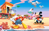 #Mickey and Donald on the Beach