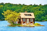 Maison sur l'eau-paysage