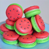 Watermelon macarons