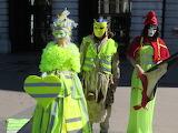Gilets jaunes au carnaval vénitien d' annecy