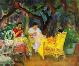 Henri Lebasque, Après-midi au jardin, 1923