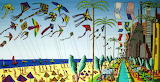 Tel-aviv-beach-naive-art-paintings-artworks-by-raphael-perez-163