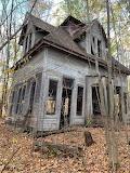 Abandoned frame house