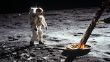 Standing on the moon