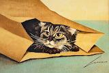 Lovell Herrero, Cat in a paper bag