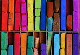 ☺♥ Coloured bricks...