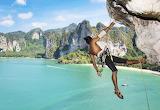 Free climbing - Railay Beach, Thailand