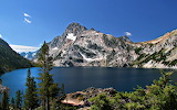 Sawtooth Lake and Mount Regan Idaho USA