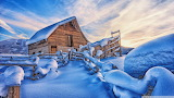 Snowy cabin mountains winter-wallpaper-1920x1080