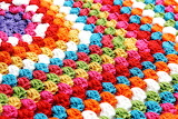 Colorful Granny Square Close-up
