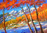 Symphony of autumn- Painting by Dmitry Spiros