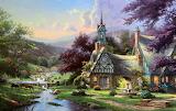 Clocktower Cottage by Thomas Kincade