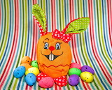 Colours-colorful-Easter-eggs-cloth rabbit