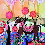 Horse and Birds, Sunita Khedekar