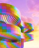 Rainbow Building and Sky