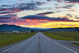 Sunset road to Trixis Bar Ovando Montana