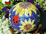 Mosaic Glass Garden Globe