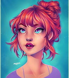 Girl with red hair by Natalia Dias