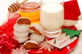 christmas cookies and milk
