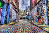 The multicoloured street - Amsterdam - by Scott McQuaide