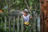 boy, fence