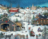 Farm at Christmas - Linda Nelson Stocks