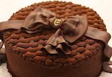#Chocolate Birthday Cake with Bow