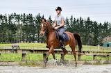 Andrea riding Amira
