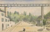 Le viaduc de Marly, Albert Capaul, 1870-1899, cote 6Fi39