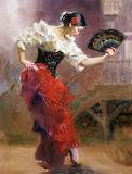 Pino Daeni - Spanish Dancer