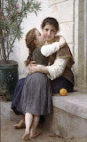 A Little Coaxing by William-Adolphe Bouguereau