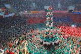 Castellers vilafranca durant concurs