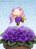 Fairy in Violets by Lia Selina