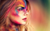Colorful make up