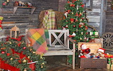 POTW, christmas, bench, tree, toys, gift, wheel, house, hay, lan